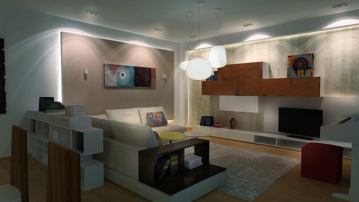 Amenajare interioara - Apartament accente Pop-art-10