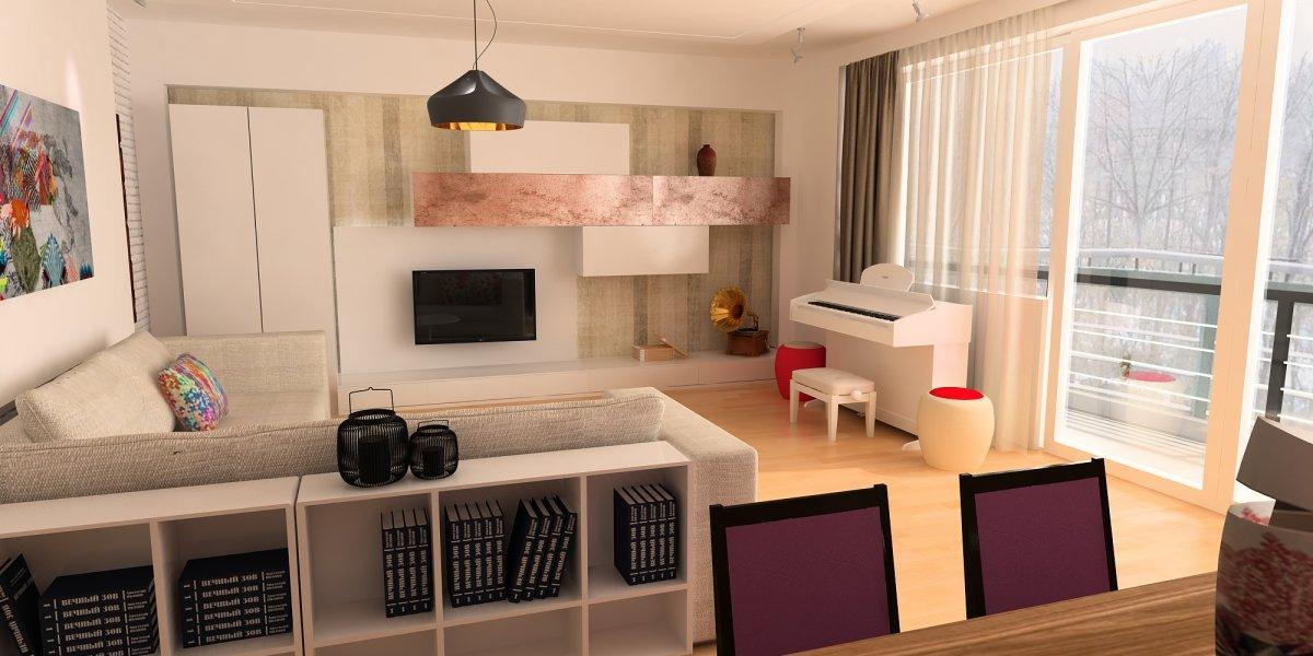 Amenajare interioara - Apartament accente Pop-art-2