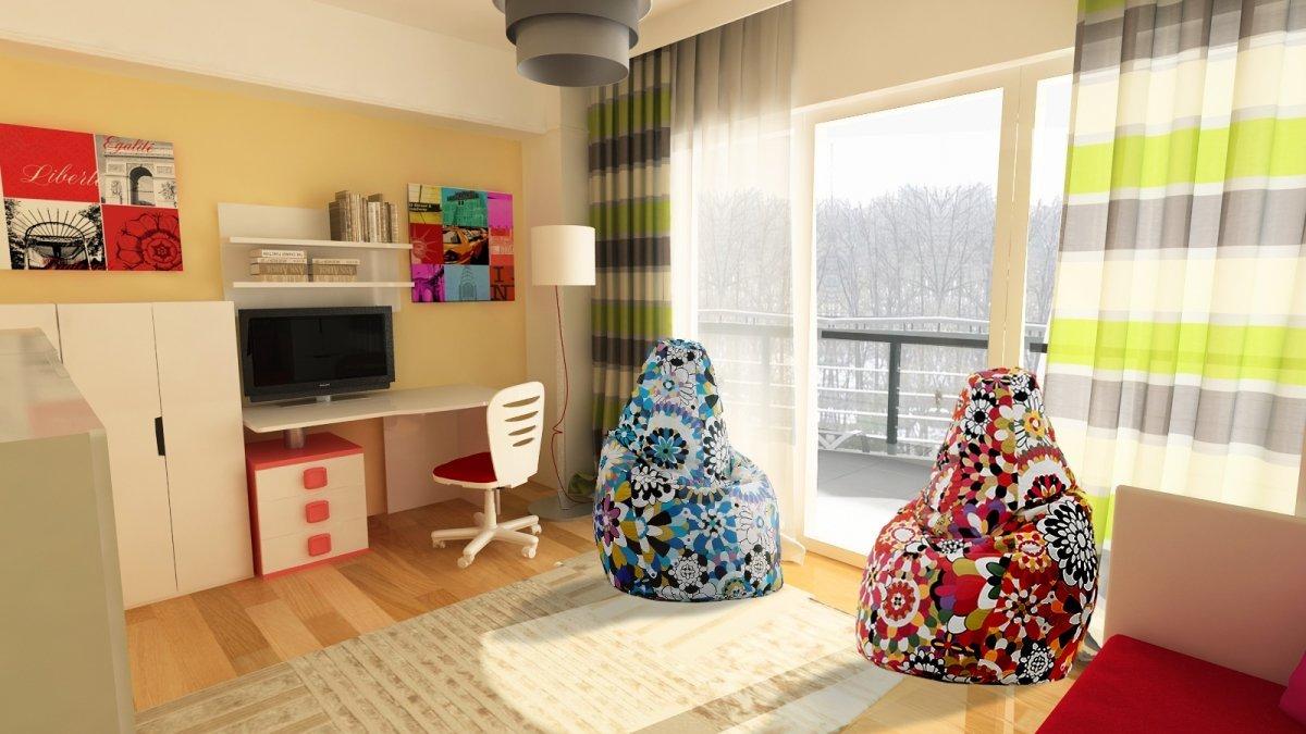 Amenajare interioara - Apartament accente Pop-art-23