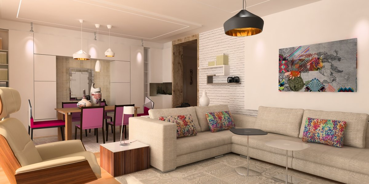 Amenajare interioara - Apartament accente Pop-art-5