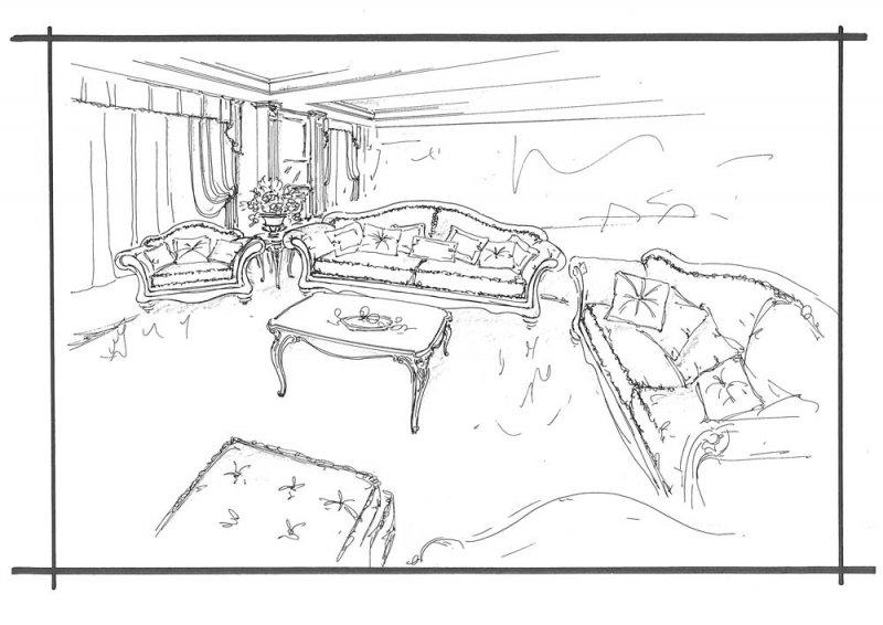 Amenajare interioara casa- Penthouse in stil clasic-3