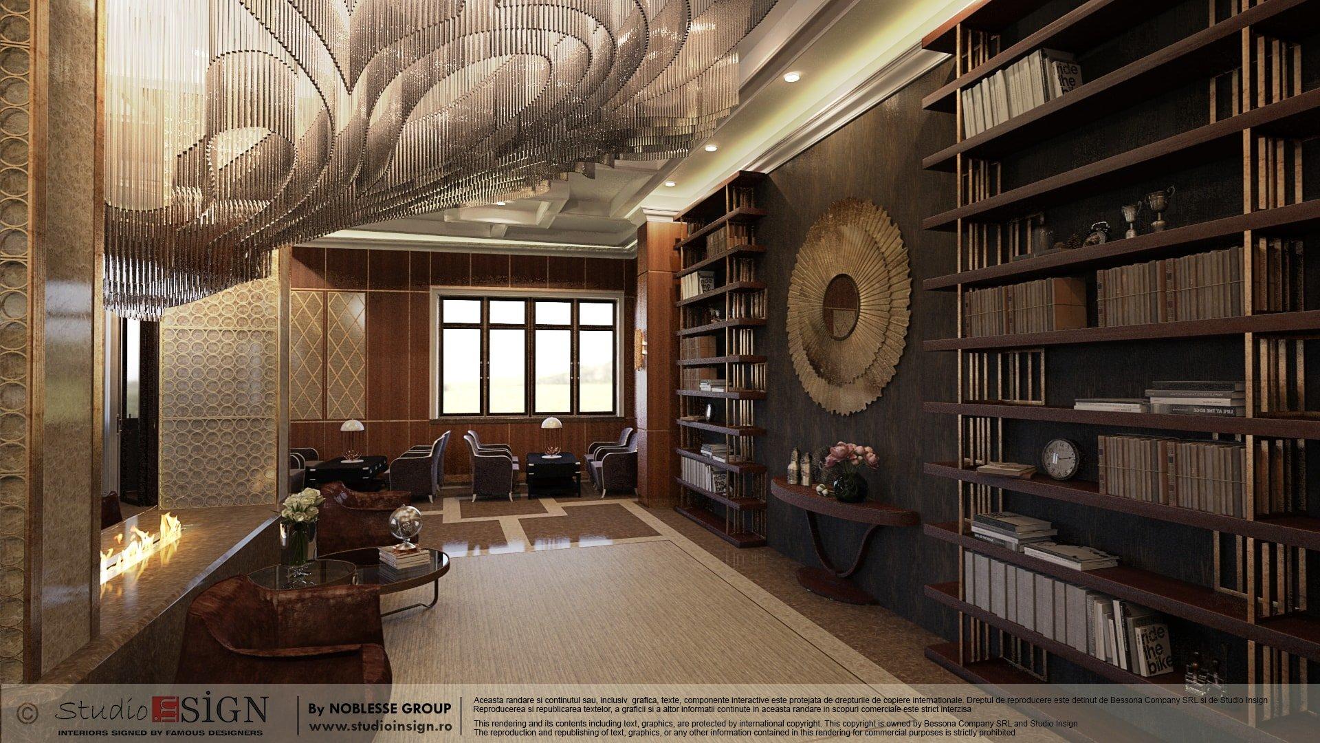 lobby & lounge hotel, brasov – classic interior design | studio insign