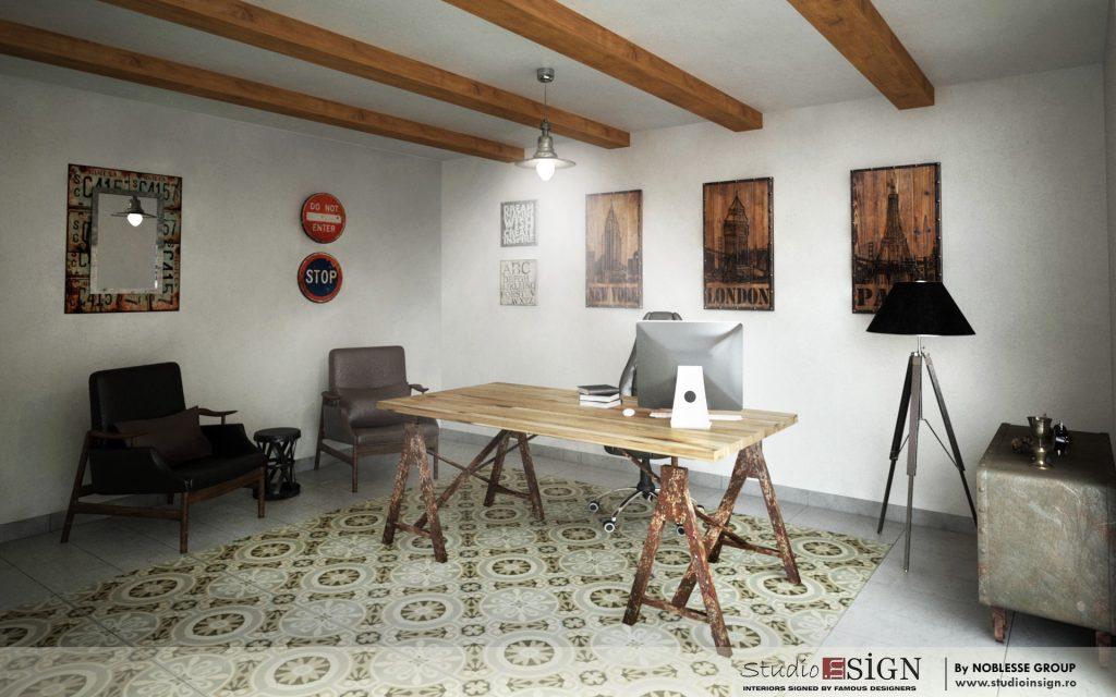 Birouri white impex craiova design interior in stil vintage industrial - Industrial design interior ideas ...