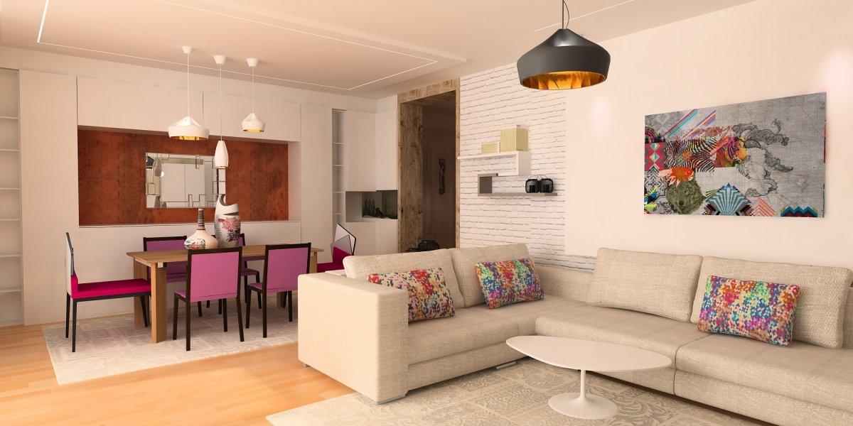 Amenajare interioara - Apartament accente Pop-art-1