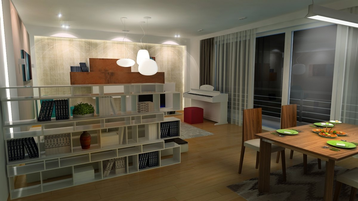 Amenajare interioara - Apartament accente Pop-art-12