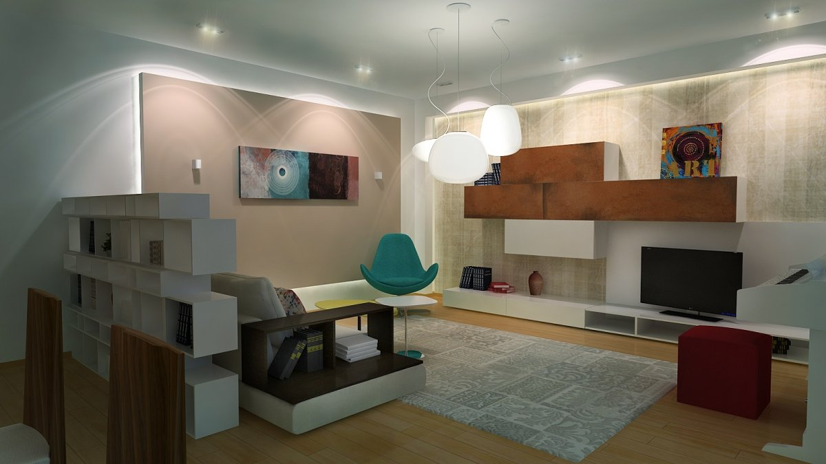 Amenajare interioara - Apartament accente Pop-art-14
