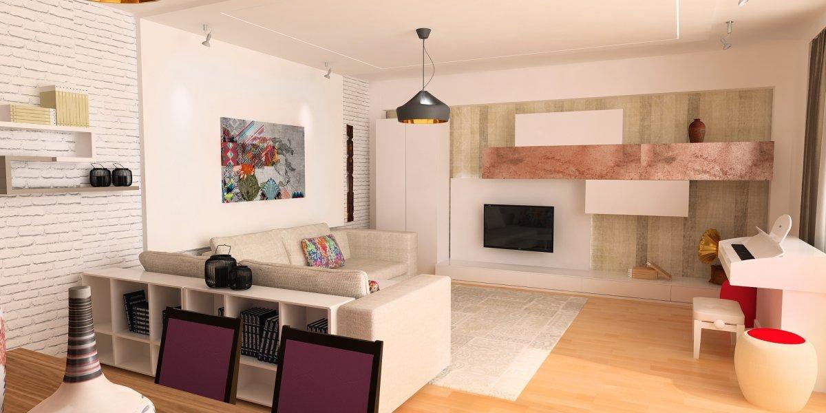 Amenajare interioara - Apartament accente Pop-art-3