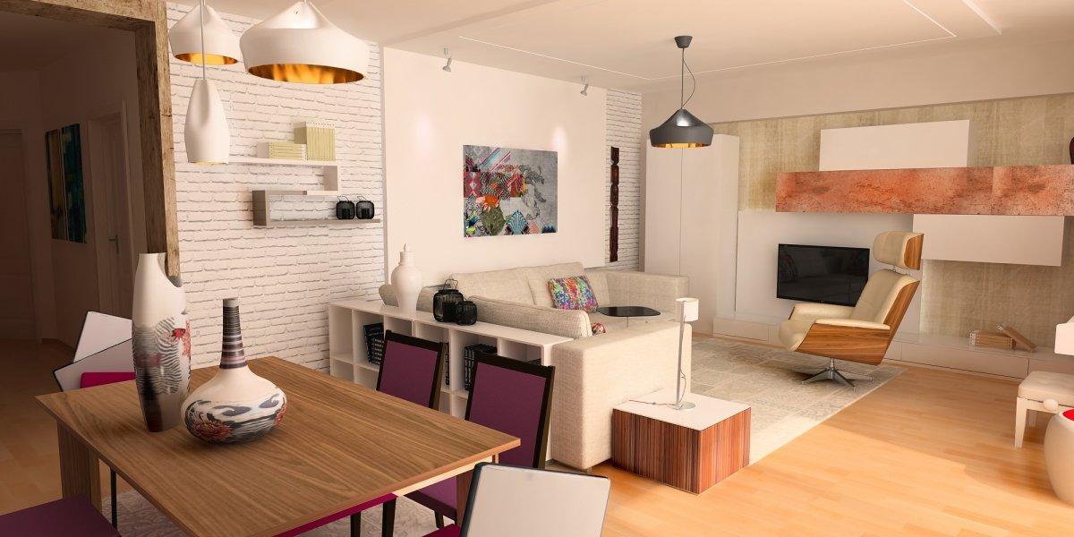 Amenajare interioara - Apartament accente Pop-art-4