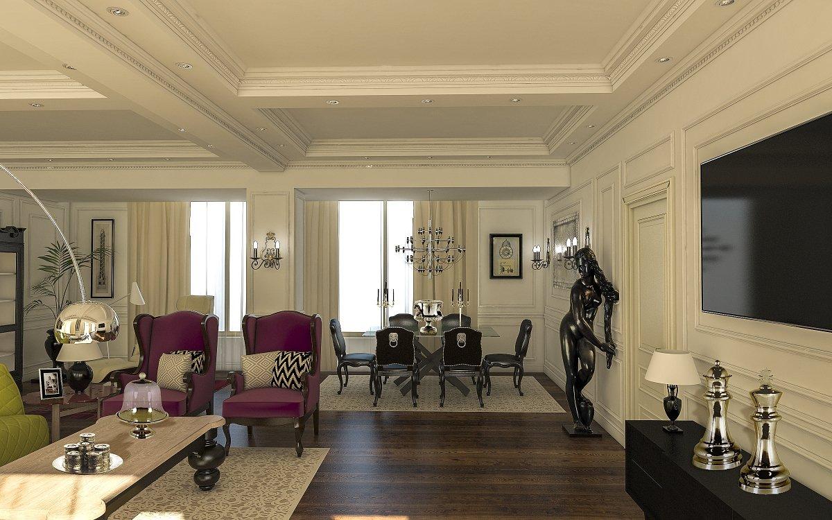 Amenajare interioara apartament- Farmecul stilului eclectic-2