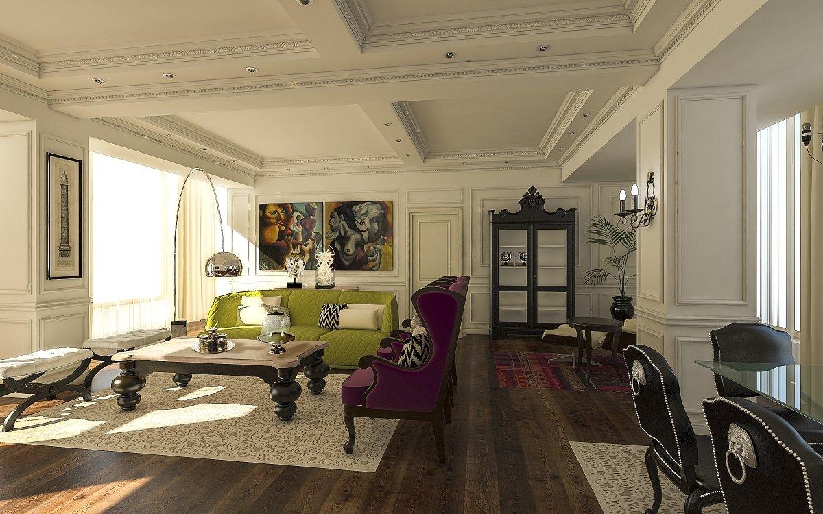 Amenajare interioara apartament- Farmecul stilului eclectic-3