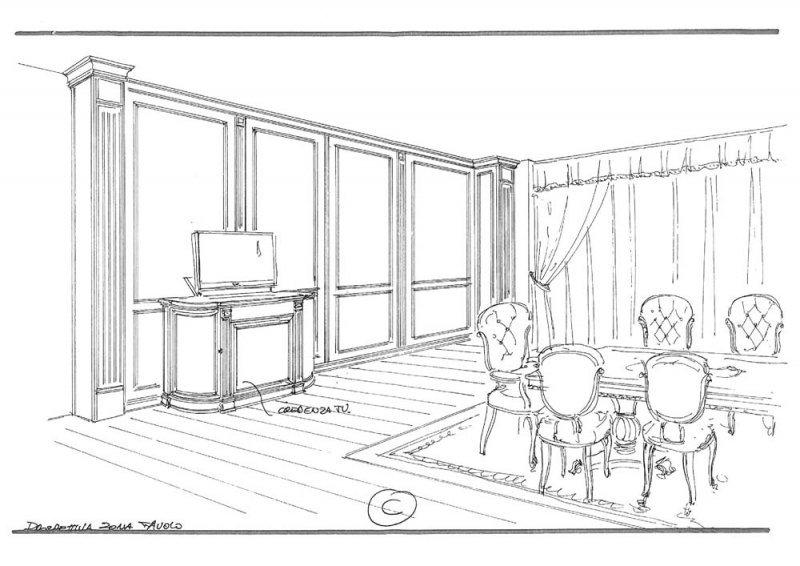 Amenajare interioara casa- Penthouse in stil clasic-5