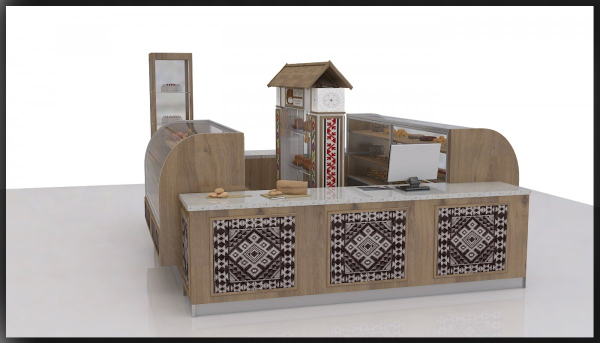 Amenajare interioara stand comercial produse de patiserie-3
