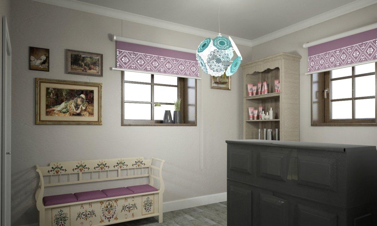 Design interior salon cosmetica si coafor vila margareta for Interior stylist