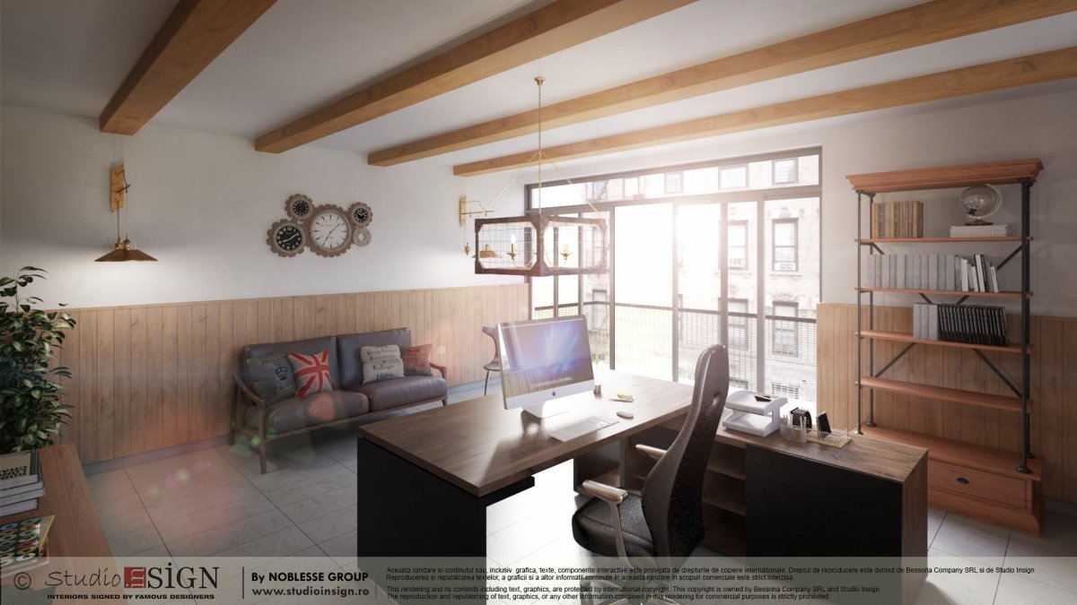 Proiect birouri Craiova, stil vintage-industrial-1