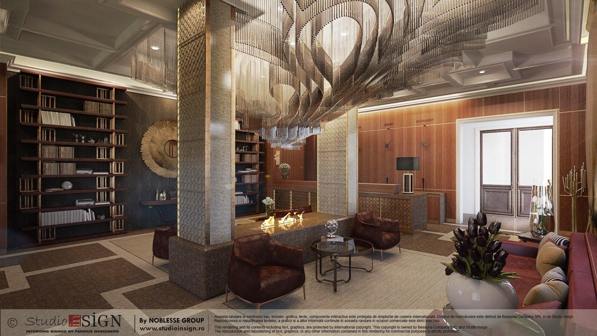 LOBBY & LOUNGE HOTEL, BRASOV – CLASSIC INTERIOR DESIGN   Studio inSIGN
