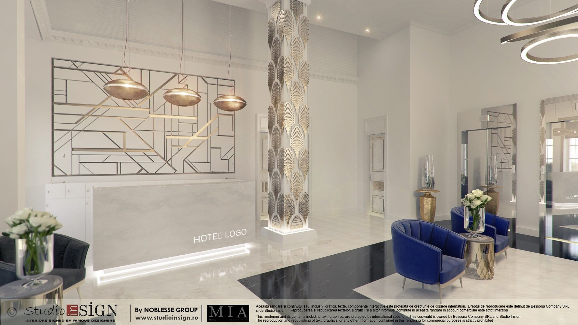 hotel 5 stars bucharest art deco interior design studio insign. Black Bedroom Furniture Sets. Home Design Ideas