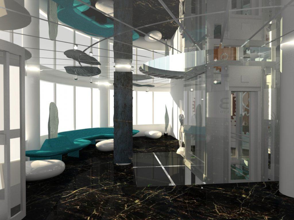 Reception Interior Design Application Research Center