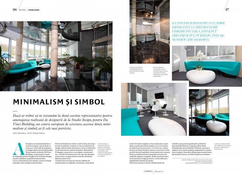 Studio Insign Revista Caminul, Februarie 2013 - Minimalism si simbol