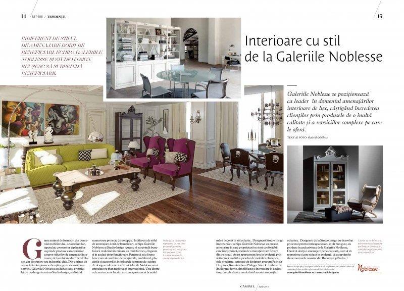 Revista Caminul, Iunie 2013 - Interioare cu stil by Galeriile Noblesse si Studio Insign