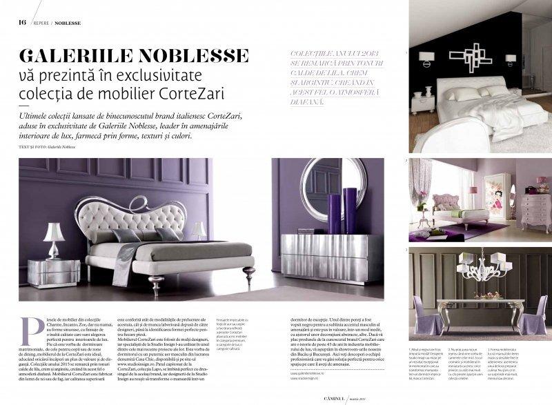 Studio Insign Revista Caminul, Martie 2013 - Colectie Cortezari folosita in proiectul