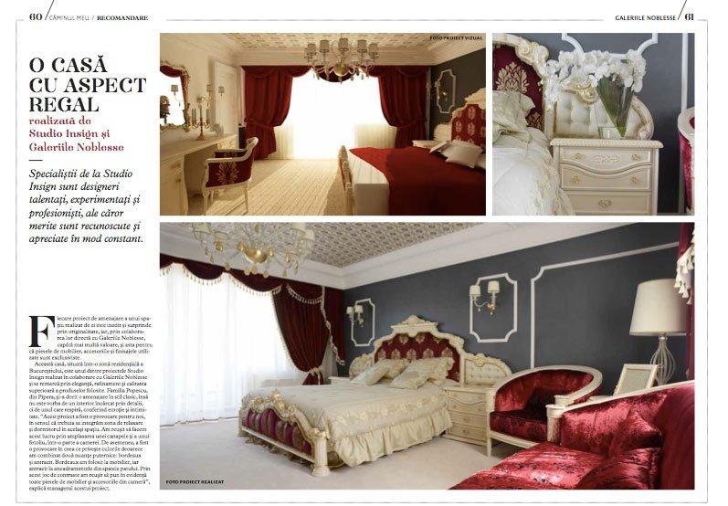 Studio Insign Revista Caminul, Iulie 2012 - Design interior pentru o casa cu aspect regal
