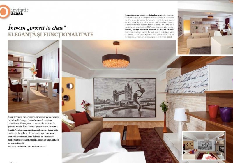 Studio Insign Revista Domus, Iulie 2012 - Eleganta si functionalitate: Proiect la cheie