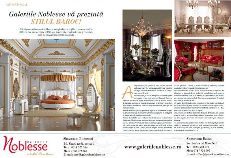 Studio Insign Revista Casa lux, Aprilie 2012 - Amenajarea casei in stil baroc