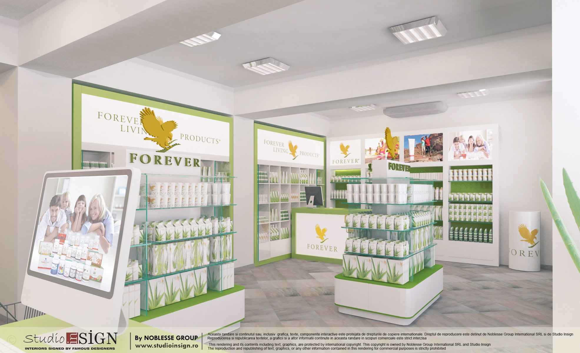 proiect amenajare forever living arad by studio insign