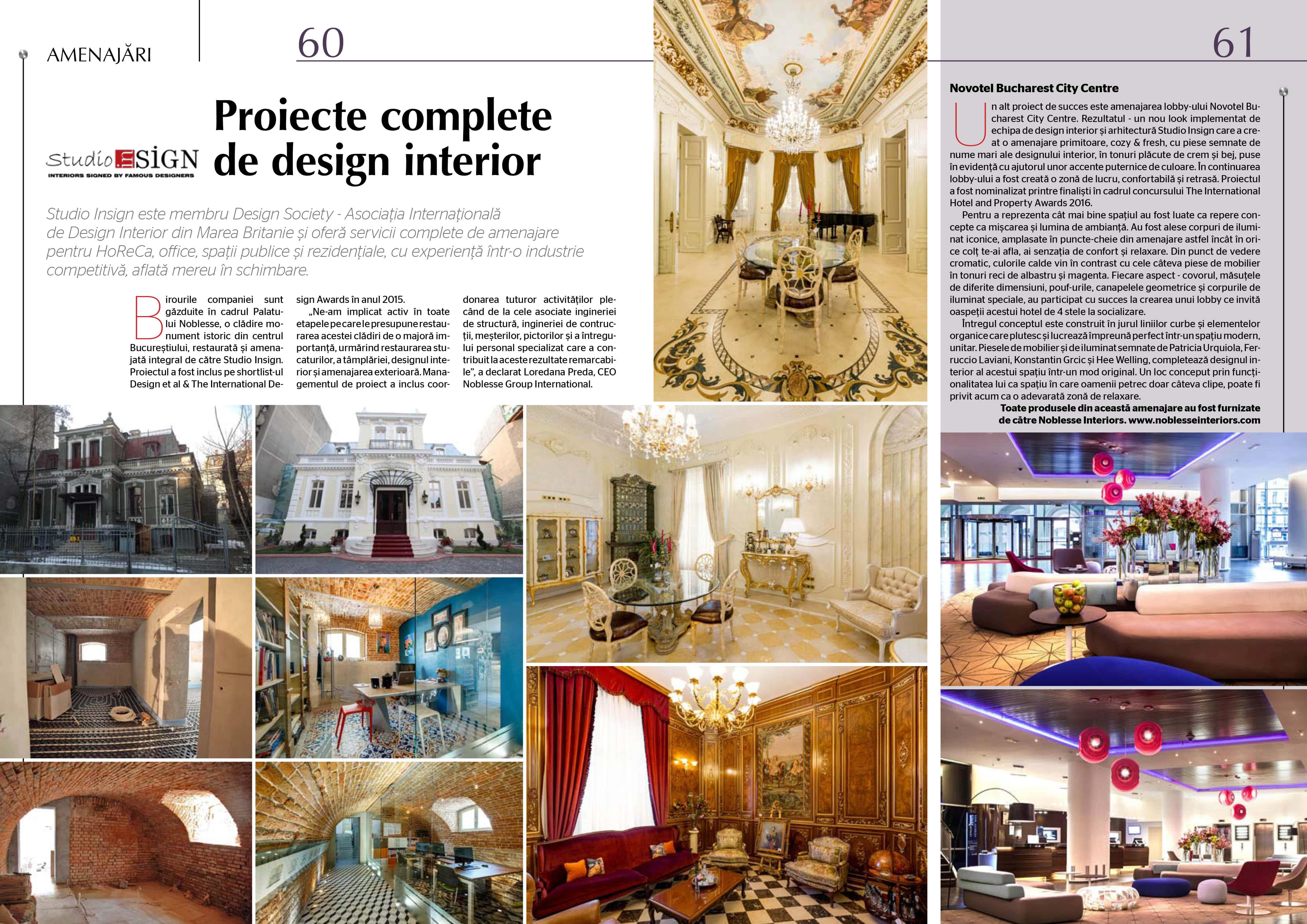 Revista MTC, iulie 2016 - Birourile Studio Insign & Lobby Novotel, proiecte amenajate integral de echipa de design interior si arhitectura