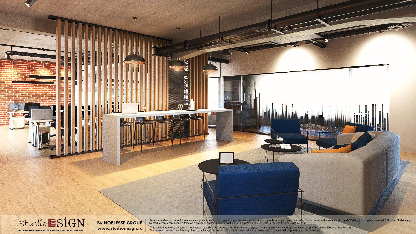 Digital marketing offices modern industrial interior - Modern industrial interior design ...