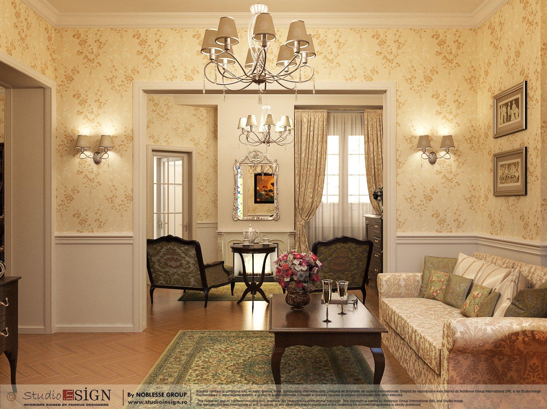 Apartament romantique design interior in stil clasic - Design interior apartamente ...